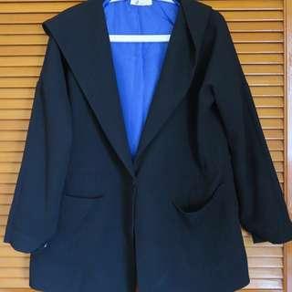 Black Hoodie Winter Coat