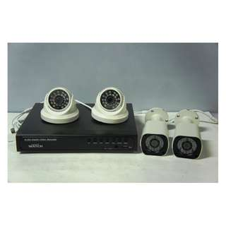 CCTV Package with 1TR Storage (4Channel with 2 indoor and 2 Outdoor)