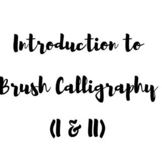 Introduction To Brush Calligraphy I And II