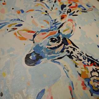 Acrylic Reindeer Painting