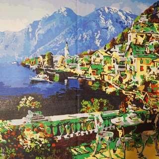 Acrylic Landscape Painting on Cloth Canvas
