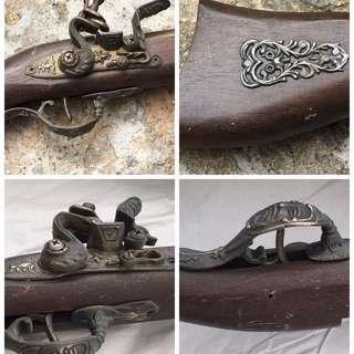 "Vintage gun 古董西洋木鐵模型鎗 size 1:1 英國制造 40"""