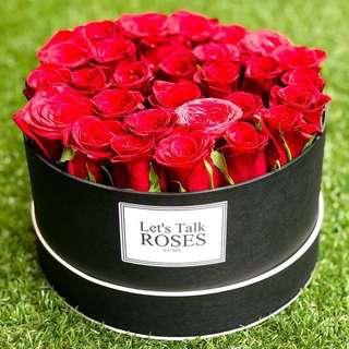 Box of 29 Fresh Roses