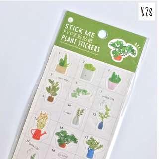 Sticker Set StickMe Series (K28 - Plants)