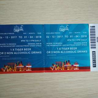 Prudential Marina Bay Carnival Drinks Voucher