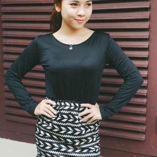 Dress black stripes