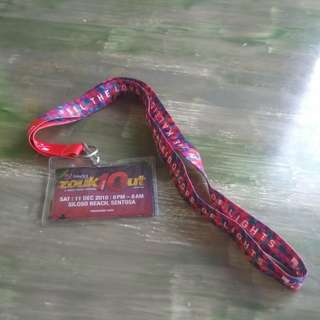 Zouk out lanyard