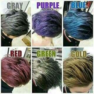 Hair color wax/spray/bremod
