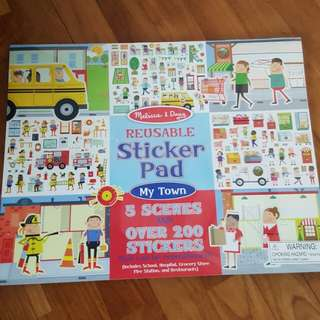 Melissa & doug sticker pad book