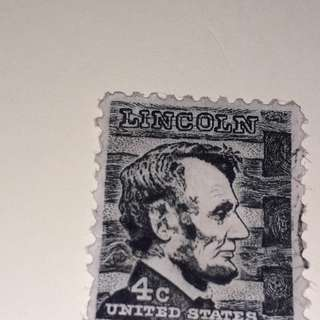 President  LIncoln' postage stamp