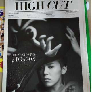 GD HIGH-CUT MAGAZINE [RARE ITEM]