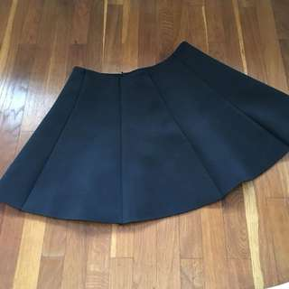 LZD + m)phosis Neoprene A-Line/Circle Skirt Black