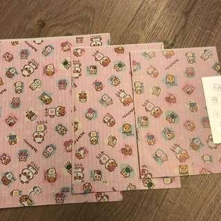 CK 鼠 粉色系列 禮物袋 小紙袋 一套三個連貼紙 大中細 全新 珍藏