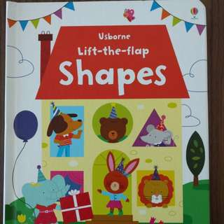 Usborne Lift the Flaps Shape Hard Cover Book