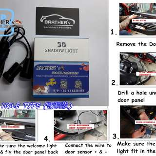 DIFFERENT DOOR WELCOME LIGHT DIFFERENT LOGO UNIVERSAL *Cool and Sporty*