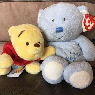 Winnie The Pooh ty bear soft toys New