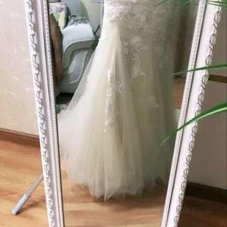 小拖尾小魚尾婚紗