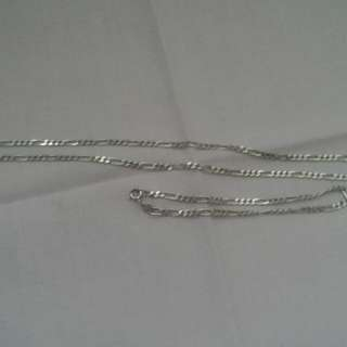 High quality sterling silver necklace and bracelet set
