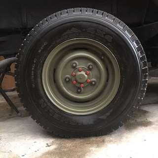 "MICHELIN 4x4 wheel 90% new 7.5""x16"" Made in France 米子蓮車軚4條"