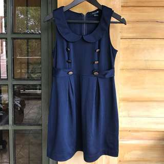 Forever21 Navy blue doll dress (worn once) S to M size