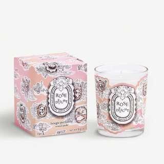 $550 (=85折) DIPTYQUE ROSE DELIGHT SCENTED CANDLE 玫瑰花香味蠟燭 190G (情人節限量版 limited edition) 🌹🌹