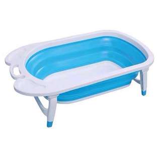 Baby Blue Collapsible Foldable Bath Tub
