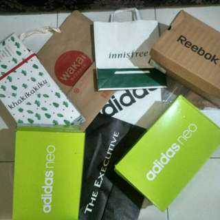 Shoes boxes and Paper Bag