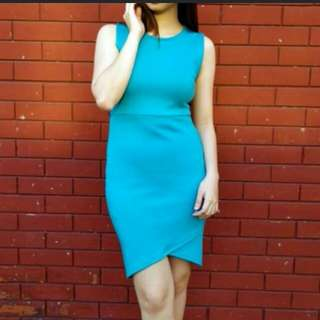 Forever 21 Teal sexy dress (bodycon)
