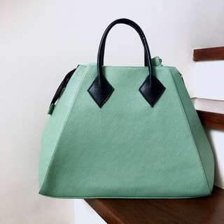 Green Satchel Bag