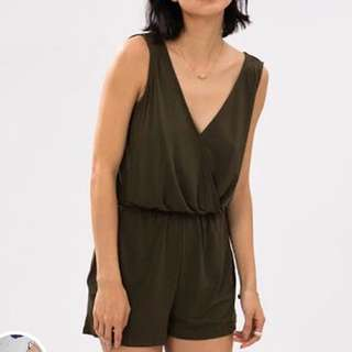 MNG olive playsuit