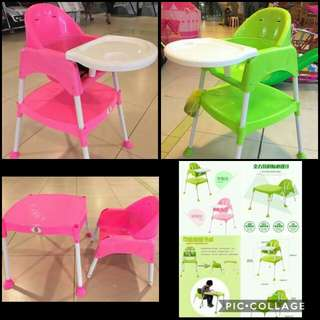 High-chair/Study Table 2-in-1