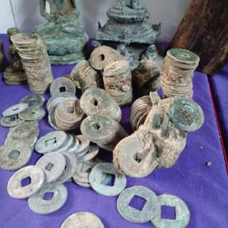 Antique chinese coins found