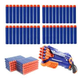 50Pcs/Lot Nerf N-STRIKE Soft Bullet Darts Blue for Children Kids toy Gun Refill