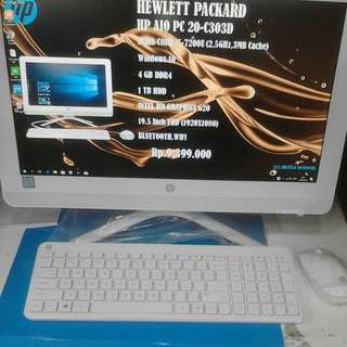 HP AIO PC 20-C303D - Kredit No CC - Free 1x Angsuran