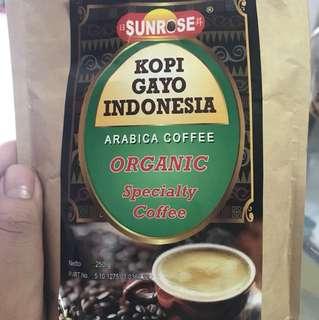 Organic Arabic coffee