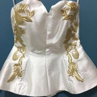 [Fast Deal] Love Bonito Covet Christia Bustier White Size M