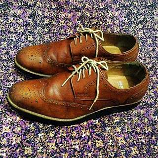 Sepatu kulit Renoma Paris vintage Original