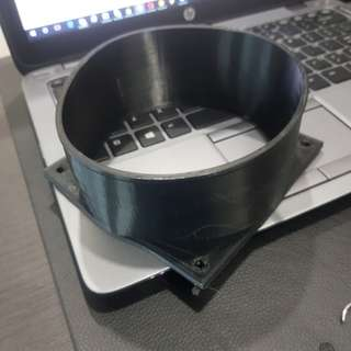 Black Antminer 120mm Fan Duct Cooling Shroud to 5 Inch (125mm) Vent