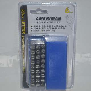 27pcs.Letter Stamping Punch 6mm