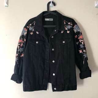 NEW TOPSHOP embroidered oversize jacket