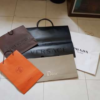 Authentic Luxury Carriers + LV  Shoe Box Set