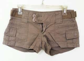 Brown denim shorts
