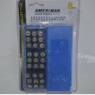 27pcs.Letter Stamping Punch (8mm)