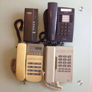 4 vintage telephones/ phones