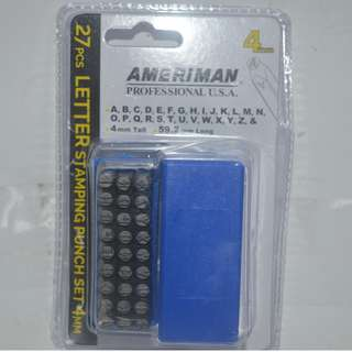 27pcs.Letter Stamping Punch 4mm