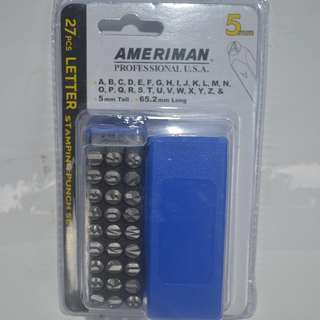 27pcs.Letter Stamping Punch 5mm