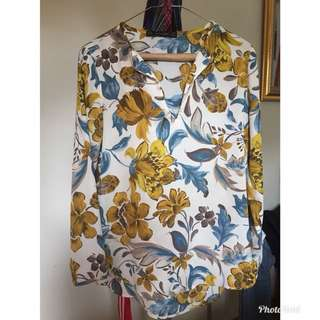 Zara Flowery Top