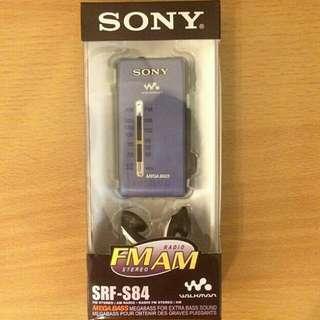 Sony S84 收音機 有盒有說明書。$390