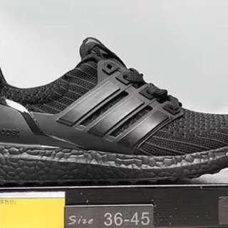 PO: Adidas UB Ultra boost 4.0 full black shoes running track jogging sports