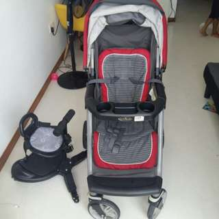 Graco Stroller with buggy board